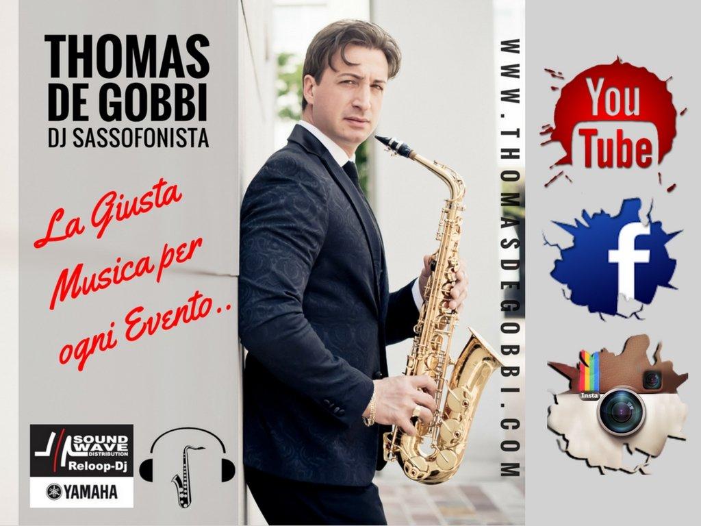 Thomas De Gobbi Dj Sassofonista