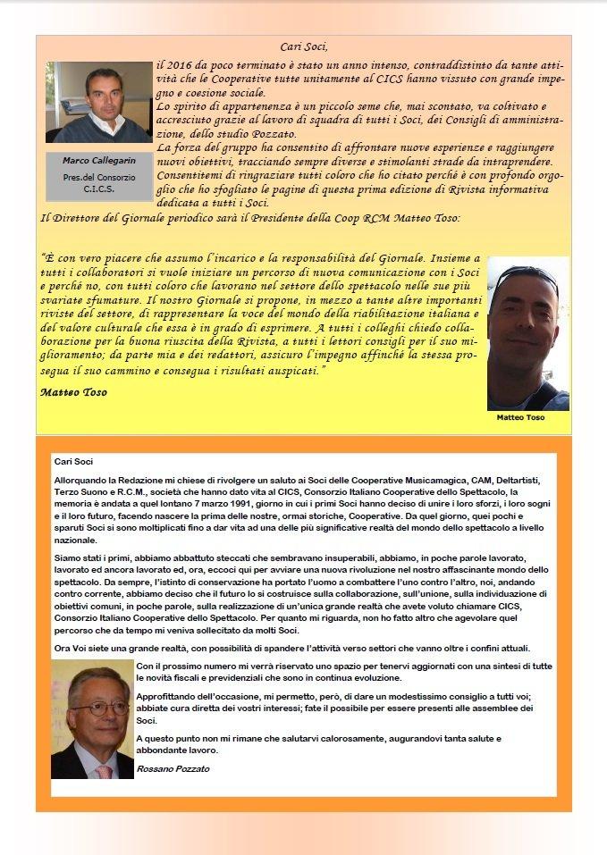 Il C.I.C.S. presenta L'IMPRONTA, il nuovo giornale aziendale - articolo 1