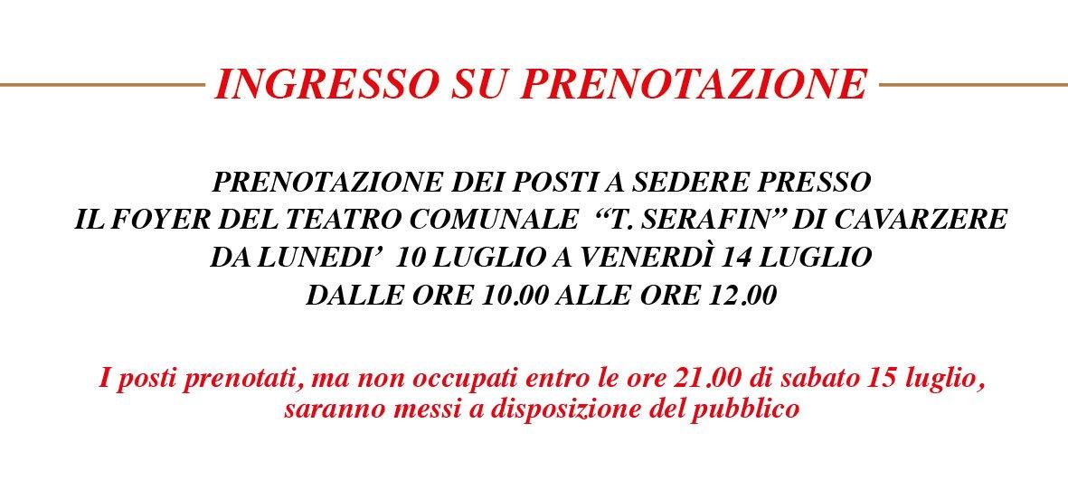 """""""La grande lirica sotto le stelle"""" a Cavarzere il 15 luglio 2017 - Prenotazione posti 2"""
